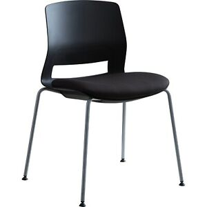 Lorell Chair Stackable 21 1 2 wx33 lx33 h 2 ct Black 42948
