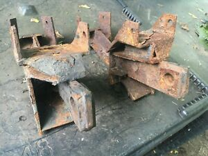 Fisher Minute Mount Plow Push Plates Gm 7160 Rusty But Sound