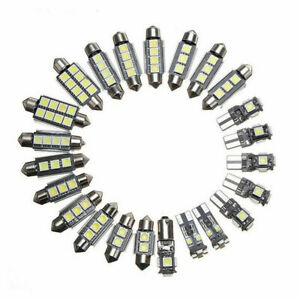 23 X Led Canbus Car Interior Inside Light Dome Trunk Map License Plate Lamp Bulb