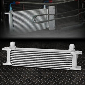 Universal 10 Row 10an Coolant Transmission Engine Oil Cooler Extra Radiator Kit