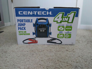 Cen Tech 4 In 1 Portable Jump Pack And Compressor And Usb Phone Charger