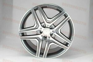20 Mercedes Benz Ml63 New Style Gunmetal Machine Face Rims Fits Gle350 Gle450