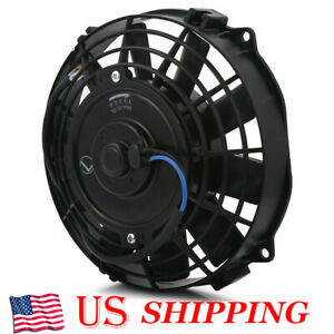 8 Inch Slim Fan Push Pull Electric Radiator Cooling Engine Kit Truck Universal