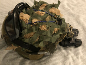ACH Helmet MICH Size Large W Cover and Anvis 6 9 Ground Nice Used Condition $700.00