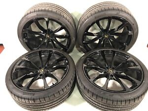 Lamborghini Urus Wheels Tires 22 Rims Oem Stock Genuine Black Set 2020