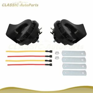 Dual Tones Snail Air Horn Siren Universal For Car Motorcycle Boat Yacht 510hz