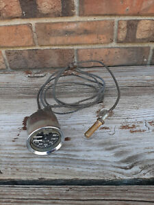 Vintage Used Smiths Oil Water Temp Gauge Gd1301 02 England Triumph Mg Healey