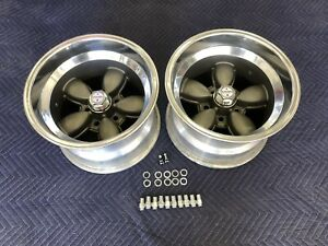 Vintage Pair Of American Racing Daisy Style Wheels 4 1 2 Bc 15x10 Mopar Ford Van
