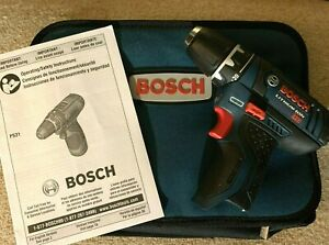 Bosch Ps31 12v Max Drill Driver 12 Volt 3 8 Variable Speed Tool With Case