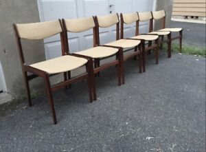Set Of 6 Mid Century Modern Rosewood Dining Chairs