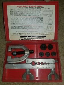 New Britain Hand Tools Double Flaring Tool Kit Vintage 7 Piece Part ft 12