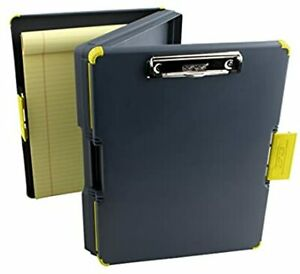 Duo Clipcase Clipboard Dual Sided Poly Storage Case And Organizer Yellow Clip