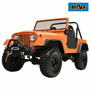 Eag Fit 59 86 Jeep Wrangler Cj5 6 7 Abs Flat Style Wide Body Fender Flares