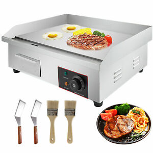 3000w 22 Commercial Electric Countertop Griddle Flat Top Grill Hot Plate Bbq A1