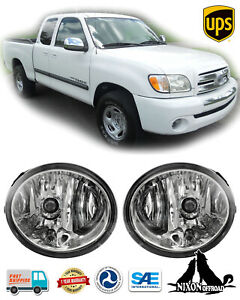 Clear Lens Driving Fog Lights Front Lamp Kit For 2000 2006 Toyota Tundra Sequoia