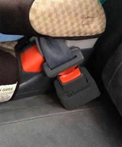 Lulabloc Seat Belt Buckle Holder 2pk Black Safety Car Booster Seat Accessory New