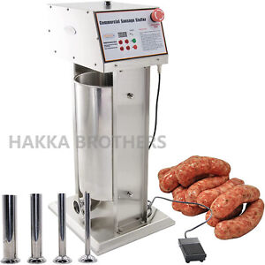 Hakka Commercial 30lb 15l Stainless Steel Electric Sausage Stuffer Meat Maker