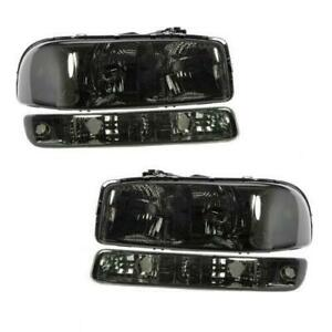 4x Bumper Lights headlights Smoke For 2000 2006 Gmc Yukon Yukon Xl Models