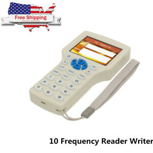 10 Frequency Smart Ic Nfc Id Card Rfid Copier Reader Writer Duplicator New Usa