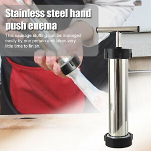 Press Stainless Steel Manual Sausage Maker With Pipes Meat Stuffer Filling Tool