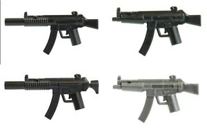 Brick Tactical BT MP5 Tactical Rifle Weapon for Minifigures Pick Variant NEW $1.33