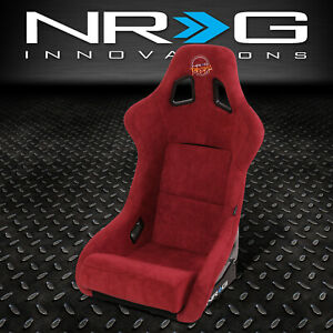 Nrg Innovations Large Fiberglass Prisma Fixed Back Bucket Racing Seat Maroon