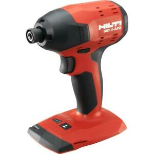 22 volt Lithium ion 1 4 Hex Cordless Sid 4 a Impact Driver Tool Body