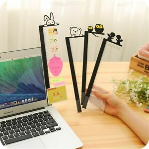 Portable Sticky Card Holder Note Transparent Monitor Memo Board Computer Screen