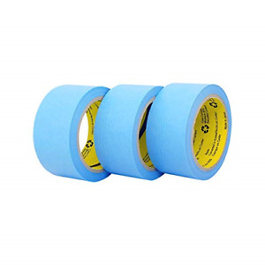 Blue Painters Washi Tape Set 3 Rolls Multi Size Pack Delicate Surfaces No