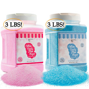 The Candery Cotton Candy Floss Sugar 2 pack Raspberry Blue And Strawberry