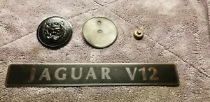 Vintage Jaguar Xjs 1992 Hood Badge And Engine Nameplate