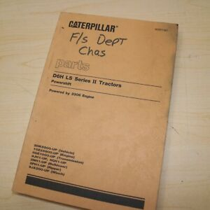 Cat Caterpillar D6h Tractor Crawler Parts Manual Book 2kd Series Mitsubishi Ii 2