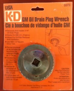 Kd Tools Gearwrench 3373 Gm Oil Drain Plug Wrench 3 1 4 New