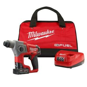 12 volt Lithium ion Brushless Cordless 5 8 In Sds plus Rotary Hammer Kit
