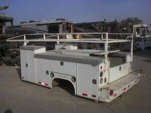 Used 11 Skaug Utility Service Enclosed Dually Bed Box Body From 99 C3500 Gm