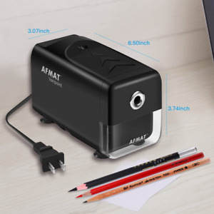 Electric Colored Pencil Sharpener Heavy Duty For 6 8mm No 2 Classroom Auto Stop
