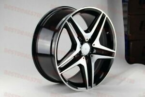 18 Mercedes Benz Black Amg Stag Style Rims Wheel Fit S Class S550 S500 W221