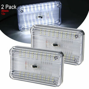 2x Ultra Bright 12v Roof Mounted Led Interior Light on off Switch For Cars etc