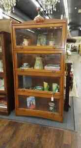 Lawyer Barrister Bookcase With Beveled Glass Doors