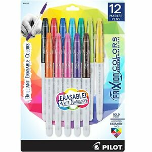 Pilot Frixion Colors Erasable Marker Pen Bold Point 2 5mm Asst Colors 12 box