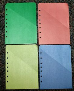 Classic Desk Planner Accessory 7 hole In Binder Stash Storage Sleeves Lot 5