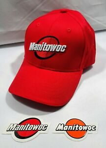 Manitowoc Red Logo rare And Sticker For Crane Oilfield Mining Construction 1