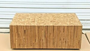 End Grain Coffee Table Bench Custom Made