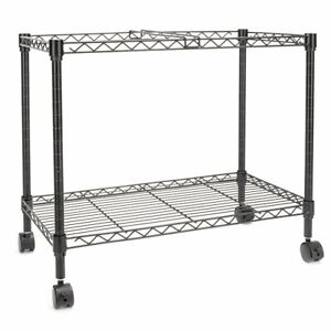 Single Tier Metal Rolling Mobile File Cart Office Home Supply Black