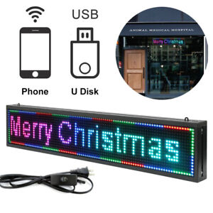 P10 40x 8 Inch Full Color Led Sign Programmable Scrolling Message Display Banner