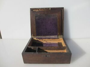 Victoria Wooden Writing Box Antique Old Crate Wood Display Drawer Vintage 10 W