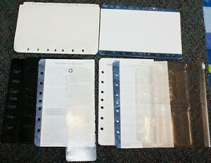 Classic Desk Planner Accessory 7 hole Address Divider Tabs Protectors Lot 9
