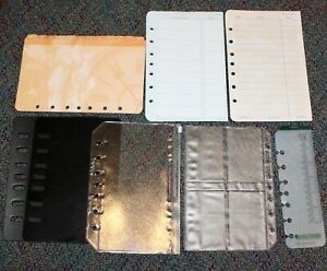 Classic Desk Planner Accessory 7 hole Tab Address Protectors Sleeves Lot 11