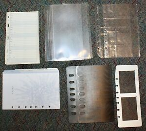 Classic Desk Planner Accessory 7 hole Address Tabs Protectors Sleeves Lot 13