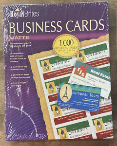 Royal Brites Matte Business Cards White 2 X 3 5 Inches Pack Of 1000 28992